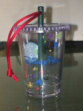Preowned Starbucks Disney Parks Cold Cup with straw Ornament