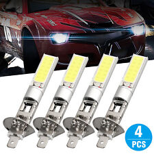 4x White H1 CREE LED Headlight High Low Beam Light SMD Bulbs Vehicle Lamp 100W