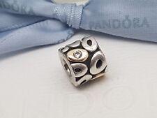"Genuine Pandora Silver 14ct Gold 14k Charm ""Zephyr"" 790431CZ"