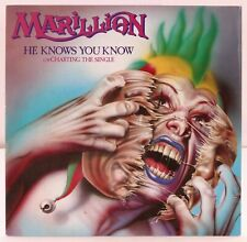 Marillion / Vinyl Record He Knows You Know c/w Charting the Single 1983