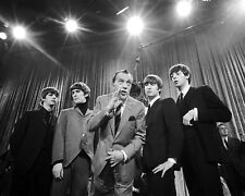 THE BEATLES WITH ED SULLIVAN IN FEBRUARY 1964 - 8X10 PUBLICITY PHOTO (EP-907)