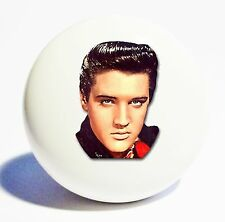 ELVIS PRESLEY HOME DECOR 1 1/2 WHITE CERAMIC KNOB DRAWER CABINET PULL