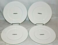 "Mikasa Ortley 8 1/4"" Bone China Salad Side Plates Set of Four New"