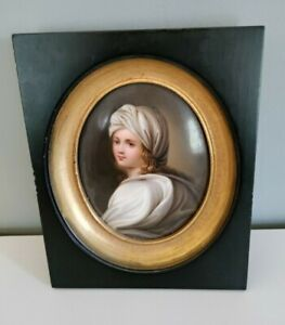 Antique Portrait Painting. Italian. Possibly Guido Reni. Wood Frame w/Gold Band