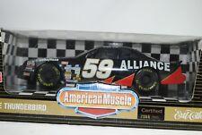 1:18 Ertl NASCAR FORD THUNDERBIRD ALIANZA #59 NEGRO LIMITED ED. RAREZA neuovp