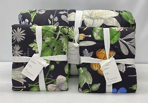 NEW Pottery Barn Poppy Botanical Cotton FULL/QUEEN Comforter w/2 STANDARD Shams