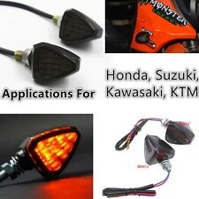 2PCS SMOKE MOTORCYCLE LED TURN SIGNAL INDICATOR LIGHTS STREET BIKE DIRT BIK