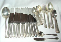 49 Pc. Vintage Hampton Court Silverplate Serving Set Circa 1926 Svc. for 11 Deco