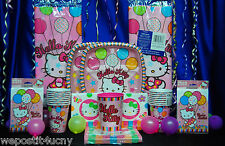 Hello Kitty Party Set # 21  Hats Cups Invites Napkins Tablecover Toppers Crayons