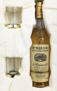 Confezione Regalo NARDINI GRAPPA Aquavite di Vinaccia Riserva 35cl + 2 Bicchieri