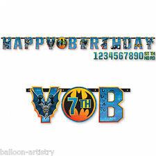 DC Comic BATMAN Gotham Hero Child's Party Add An Age Letter Banner Decoration