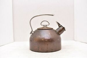 Chantal Copper & Stainless 1.8 Qt Tea Kettle Two-Tone Harmonica Whistle