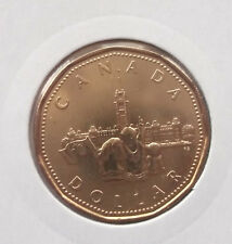 "1867-1992 ""PARLIAMENT"" CANADIAN LOONIE, COIN IS UNCIRCULATED, OF BANK ROLL."
