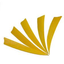 "30pcs 4"" Shield Shape Natural Turkey Feather Archery Arrow Fletchings Lw"