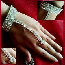 armspirale mano collana con anello bracciale alla schiava STRASS MATRIMONIO SARI