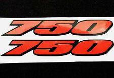 Decal Sticker Stickers 750 For Suzuki GSXR750 (100mm x 15mm)