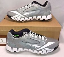 7e84dd2bec011a Reebok Mens Size 12.5 Zig Tech 2.0 Baseball Cleats Metal Wolf Grey White   100