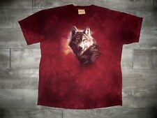 The Mountain Tie Dye Wolf Animal T Shirt David Penfound 2000s Graphic Print XL