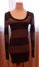 DKNY GREAT LOOLING SWEATER/TUNIC, M, GRAY,STRIPED,LOOKS PERFECT