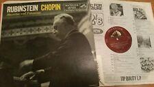 RUBINSTEIN CHOPIN MAZURKAS & POLONAISES RCA VICTOR LM 2049   -  LP