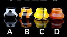 Black & White( A )Summit Chuff Cap 24 Wide Bore DripTip RDA Chubby Cap,Slam Cap