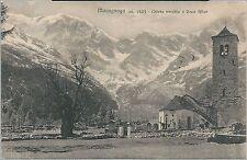 1928ca MACUGNAGA CHIESA VECCHIA GRAN FILLAR Cartolina Valle Anzasca Monte Rosa