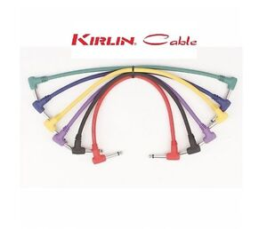 """Kirlin Cable 6"""" Angled Moulded Coloured Patch Cables R/A Pack of 6 -Kirlin-Patch"""