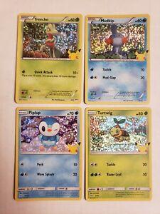 2021 McDonald's Pokemon 25th Anniversary Holo 4 Card Lot Near Mint - Mint