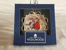 1996 Wedgewood White Jasper Peter Rabbit Christmas Holiday Ornament