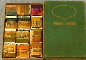 Vintage Winsor and Newton Series 5 Vermilion Artist Water Color Kit