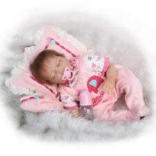 22'' Cute Reborn Lifelike Baby Pink Girls Doll Clothes Newborn Clothing Set  CA