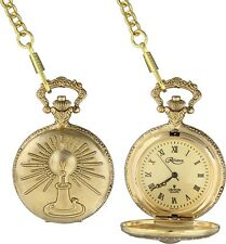 Collectible Thomas Edison First Light bulb Pocket Watch With Chain Fob Gift Box