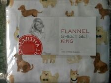 Martha Stewart Classy Show Dogs 3 Piece King Flannel Sheet Set
