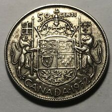 Canada 1952 Fifty (50) Cents Silver Coin - King George VI