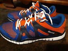 Men's Reebok PW3R Zrated Running Sneaker Athletic Shoes sz 7crossfit blue/orange