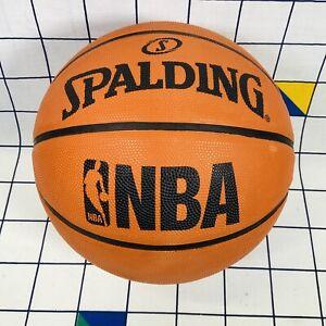 Spalding NBA Logoman Basketball Indoor Outdoor Ball Soft Grip Adult Full Size 7