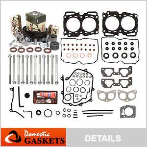 Fit 99-03 Subaru Impreza Forester 2.5L SOHC MLS Head Gasket Bolt Set+Timing Kit