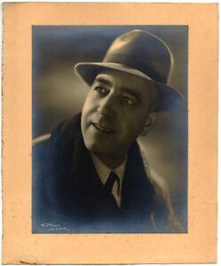 Bel ritratto maschile low-Key Foto originale alla gelatina d'argento 1940c XL355