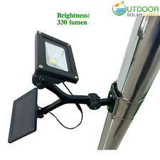 Commercial solar flagpole light super COB white with 4000mah battery & 330 lumen