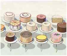 Cakes, 1963 by Wayne Thiebaud Art Print Food Bakery Pastry Museum Poster 11x14