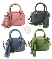 Tory Burch Women's Thea (74066) Mini Satchel Pebbled Leather Handbag