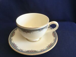 Royal Doulton Albany tea cup & saucer (very minor gilt wear on handle)