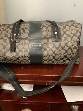 Coach F77278 Signature Heritage Duffel Bag Khaki, Brown. Travel, Overnight Bag