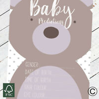 Baby Shower Prediction Card baby shower games party games baby boy girl unisex