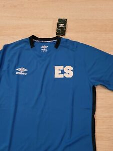 Umbro El Salvador Home 21-22 Soccer Jersey Blue.