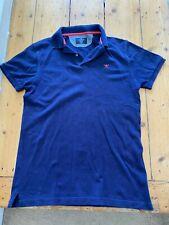 Para Hombres Camisa Polo Hackett-Azul Marino-tamaño pequeño-Usado Pero En Perfectas Condiciones