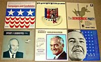 PRESIDENTIAL CAMPAIGNS, CANDIDATES & SONGS LPs: See photos for titles & details