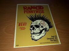Rancid & Pennywise W/The English Beat_The Agora, Cleveland Show Promo Card 2019