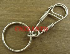 Handmade Steel Wire Sculpture Keychain ring snap hook holder clip KC068