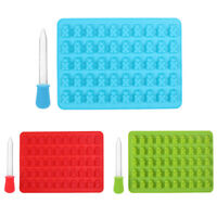 UN3F 50 Cavity Gummy Bears Hard Candy Silicone Soap Ice Cube Tray Baking Mold